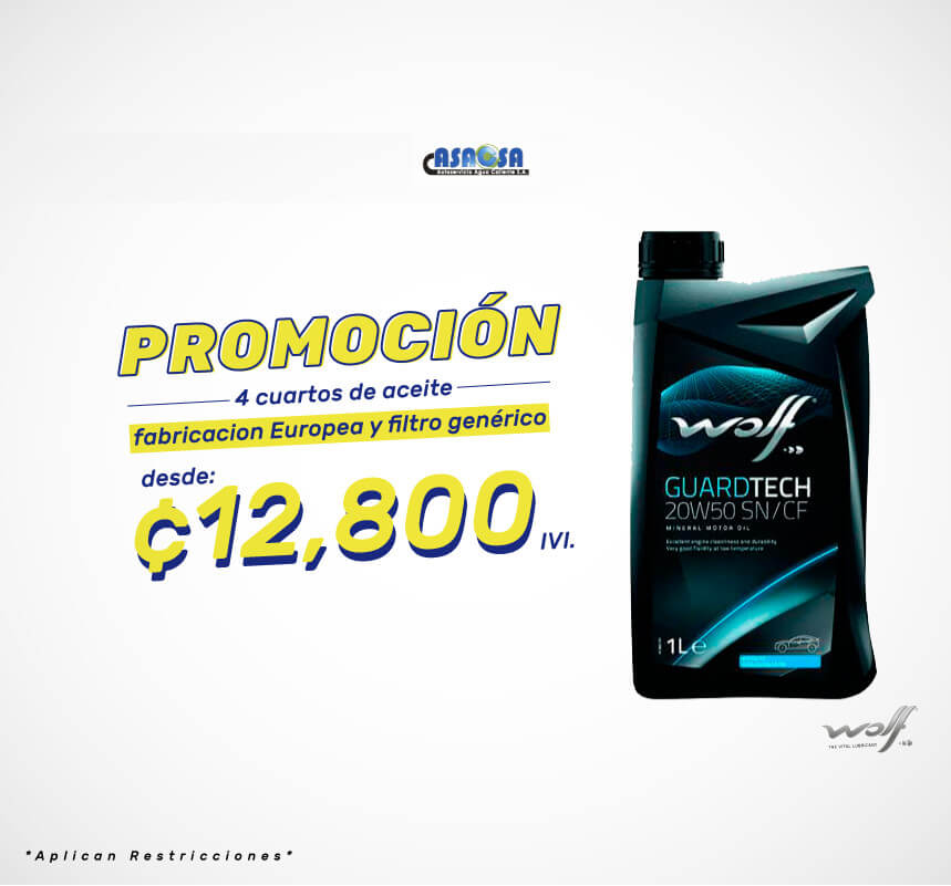Promo aceite Wolf